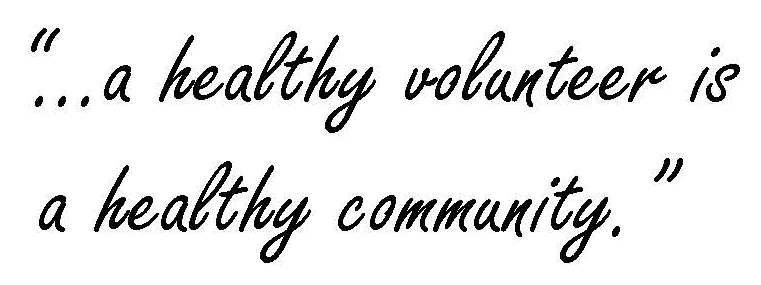 Healthy volunteer is a healthy community