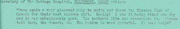 Letter from the Secretary of The Cottage Hospital in Ellesmere, Salop