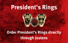 Order President's Rings directly through Jostens. Click to learn more.
