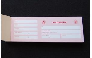 Membership Card Receipt Book