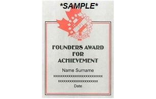 Founder's Award For Achievement Plaque