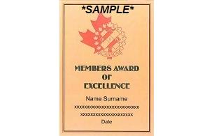 Members Award of Excellence