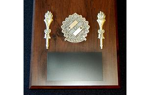 Plaque with Kin Crest & Torches