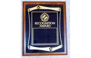 Scroll Style Recognition Plaque